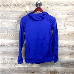 Athletes bright purple blue Stowe hoodie XXS